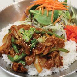 Spicy Pork Donburi - Melting Pot Tauranga