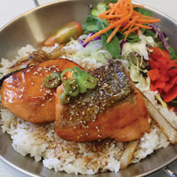 Teriyaki Salmon Donburi (Gluten Free) - Melting Pot Tauranga
