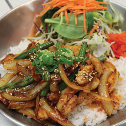 Spicy Chicken Donburi - Melting Pot Tauranga