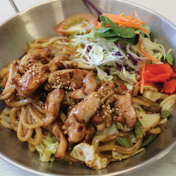 Teriyaki Chicken Yaki Udon (gluten free) - Metling Pot Tauranga