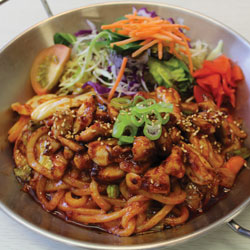 Spicy Chicken Yaki Udon - Melting Pot Tauranga