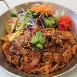 Spciy Pork Yaki Udon - Melting Pot Tauranga