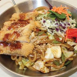 Chicken Katsu Yaki Udon - Melting Pot Tauranga